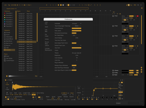 Dark Orange Theme for Ableton 10 by Vadim