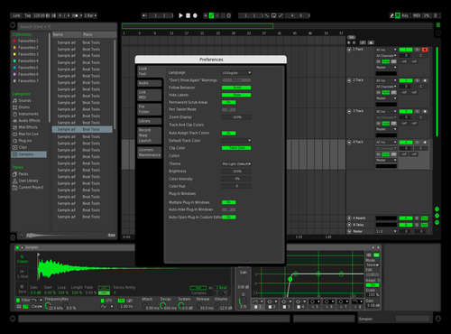 Dark Green Theme for Ableton 10 by Paul Matthew