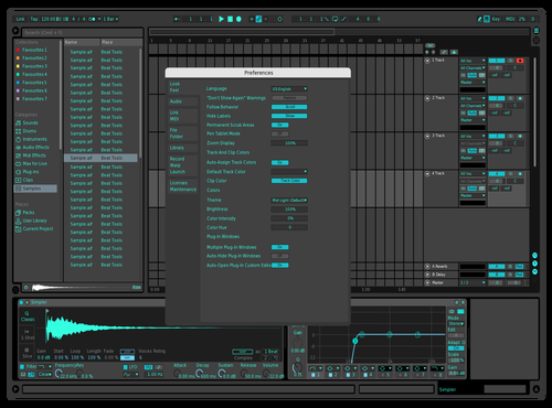 Minty Night Theme for Ableton 10 by Brian Salazar