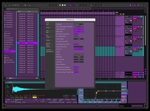 Purple dream Theme for Ableton 10 by kain