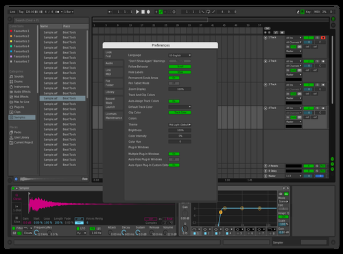 Dark Leaf Theme for Ableton 10 by Steven Xia