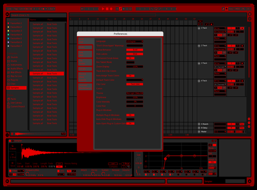 Contrast Red Theme for Ableton 10 by Justin Kelley