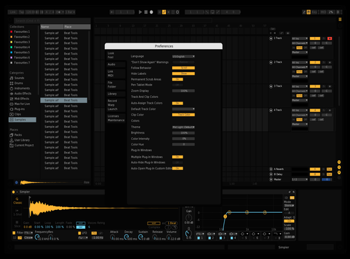 Darker except its darker and i fixed the volume sliders Theme for Ableton 10 by Frederico Struve Zimmermann Cruz