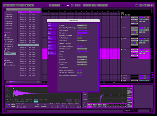 Purple Dream Theme for Ableton 10 by pied_miike