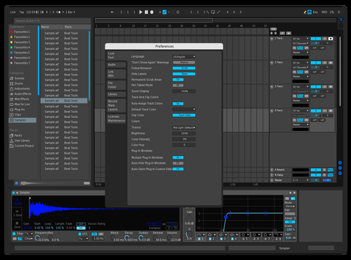 Blue Theme for Ableton 10 by Nex Wei