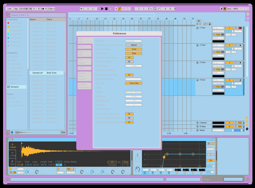 Just messin around Theme for Ableton 10 by kristof