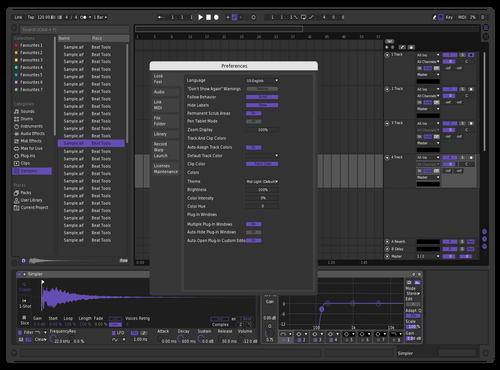 Twitch Theme Theme for Ableton 10 by Ableton Suite