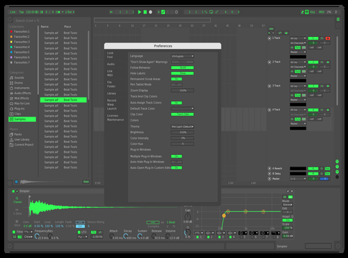 Green suit Theme for Ableton 10 by Axnourx