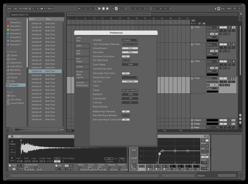 Gray Theme for Ableton 10 by duplabe