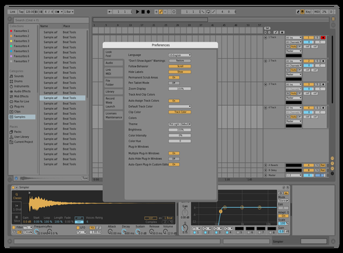 More subtle Mid Light Theme for Ableton 10 by Jon L. Jacobi