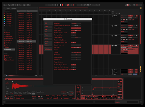 Warehouse Red Theme for Ableton 10 by taylor