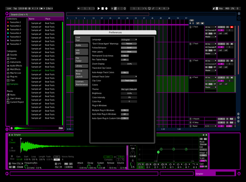 Green Purple Black Theme for Ableton 10 by filippo