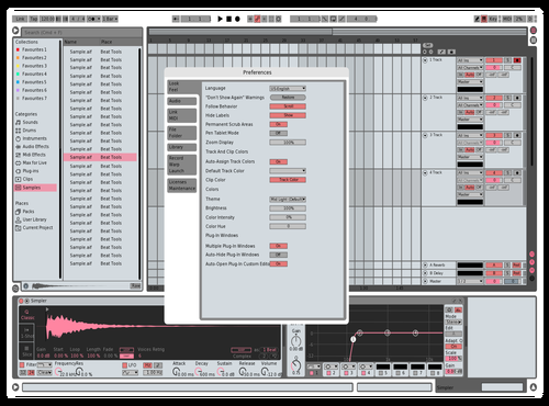 Red White Pink Theme for Ableton 10 by Jupe