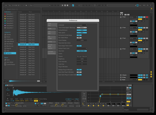 THE blueYellows 0.6 beta Theme for Ableton 10 by DRstelth