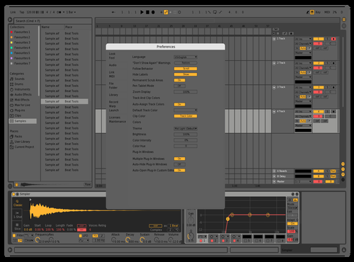 Clean gray & yellow Theme for Ableton 10 by deep1nc