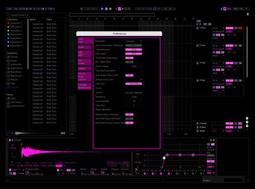 Deep Pink Theme for Ableton 10 by Shane