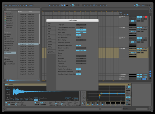 738blue Theme for Ableton 10 by Nauj