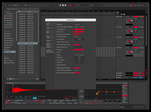 DarkandRed Theme for Ableton 10 by funky banana