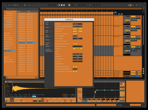 Orange Rv1 Theme for Ableton 10 by Rvanah