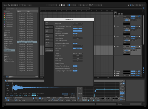 Blue/Grey Theme for Ableton 10 by Jarne
