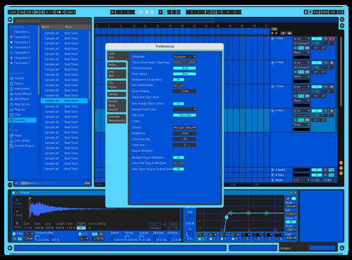 Very Blue Theme for Ableton 10 by Emma
