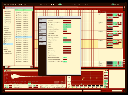 Chill Red Theme for Ableton 10 by Celgost