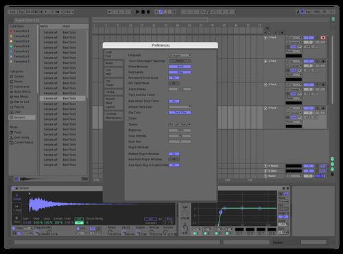 Blueberry Theme for Ableton 10 by Aleksander