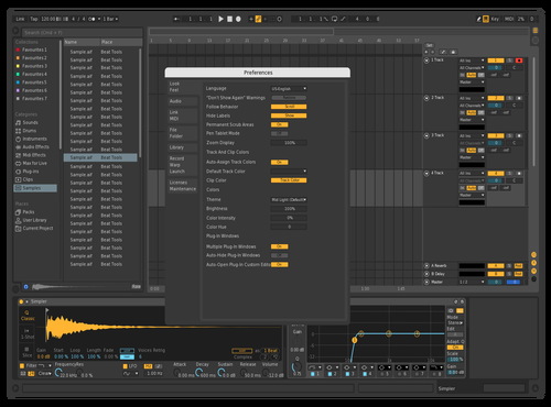 Dark Theme for Ableton 10 by BLESSKO