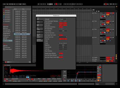 Dark Red #1 Theme for Ableton 10 by Name