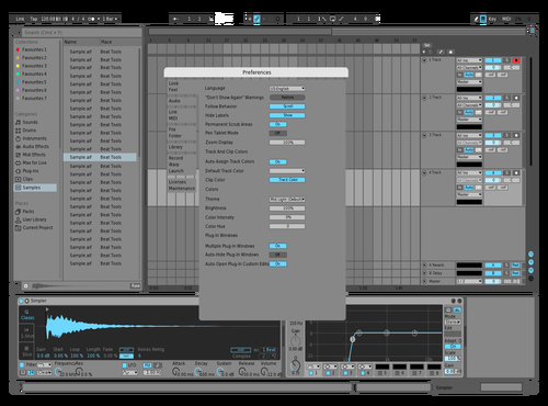 Mid blue Theme for Ableton 10 by posaidon