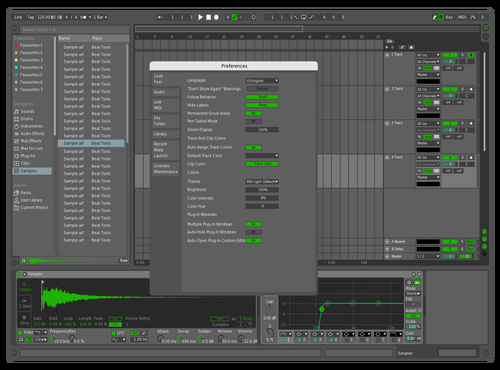 CleanGreen Theme for Ableton 10 by Scott