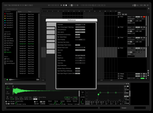 Spotify slight adjustments Theme for Ableton 10 by schinni