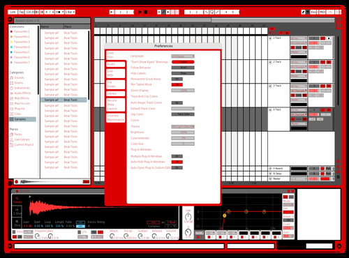 Red white Theme for Ableton 10 by Chris Suarez