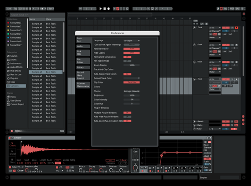 Classic Red Theme for Ableton 10 by Yash
