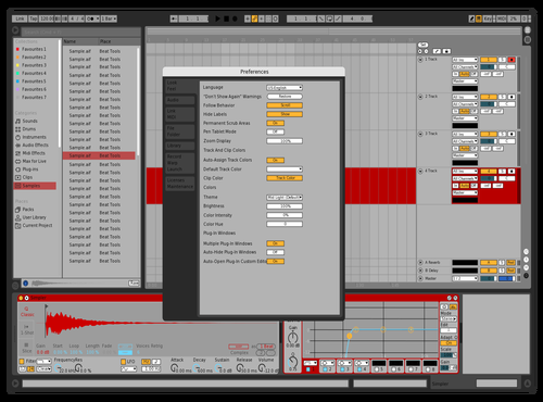 Red Theme for Ableton 10 by Fernando Ponce