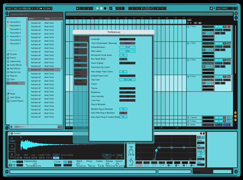 Blue Test Theme for Ableton 10 by Ray