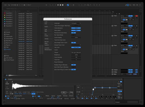 New Blue Theme for Ableton 10 by C