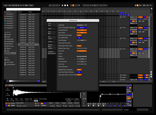 Blue n Orange Theme for Ableton 10 by Rory