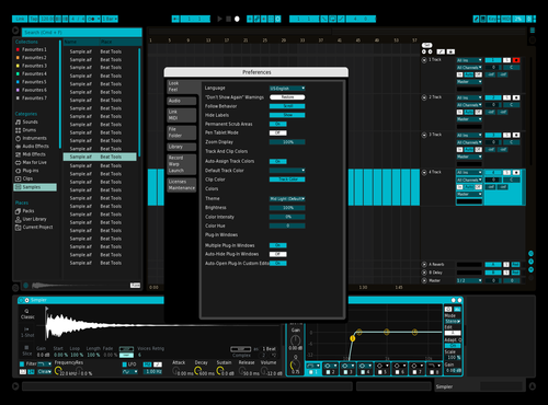 Blue Theme for Ableton 10 by Miller Doell