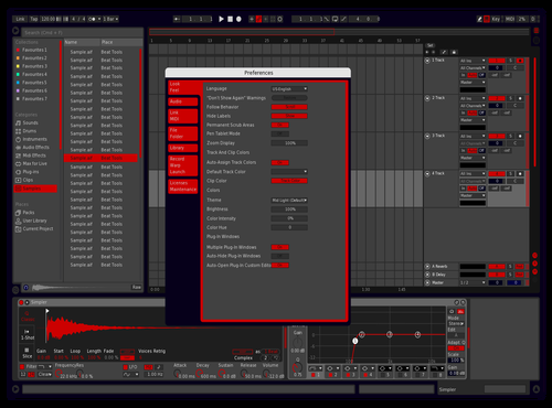 GreyBlueRed Theme for Ableton 10 by fatumchris