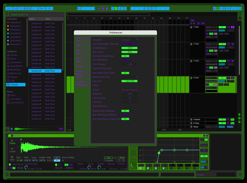 Greencon Theme for Ableton 10 by vander