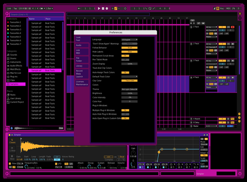 Black Pink Theme for Ableton 10 by rafiasworld