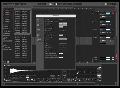 Test Theme for Ableton 10 by Tom Linton