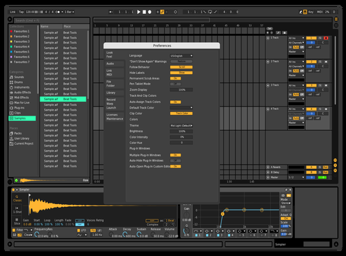 Black con es Theme for Ableton 10 by Eric Straube