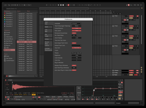 Rosè Grey Theme for Ableton 10 by Jupe