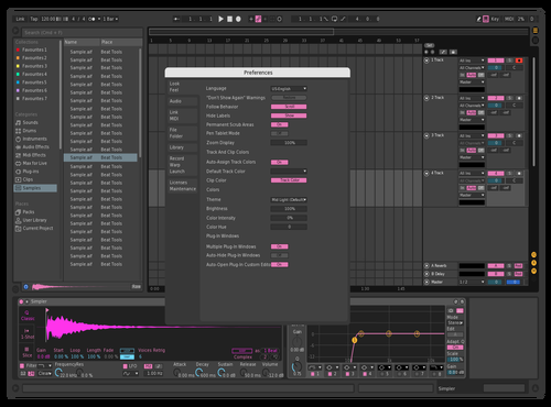 Pink suttle Theme for Ableton 10 by Erlik