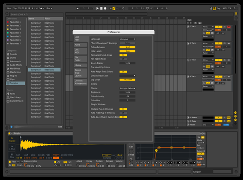 Live 9 Dark 1.0 Theme for Ableton 10 by Justin Raabe