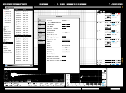 Black&White Theme for Ableton 10 by Tovking