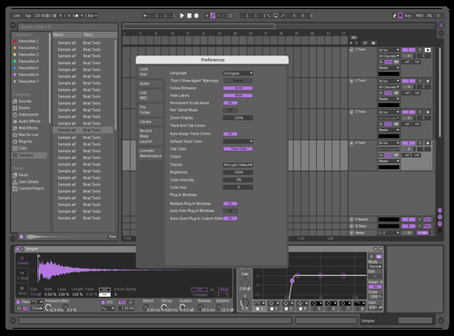 Mid Purple Theme for Ableton 10 by Marcel Faltermeier