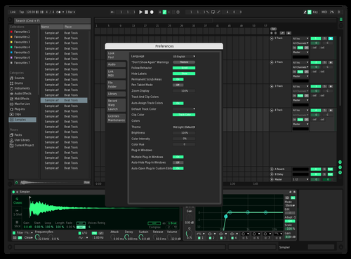 The Green Mode Theme for Ableton 10 by Marco